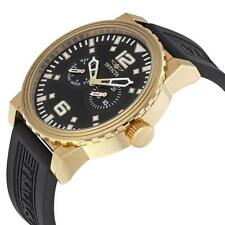 New Mens Invicta 13646 48mm Specialty Day/Date Black Rubber Strap Watch