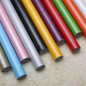 2/5m Proof PVC Gloss Oil Contact Paper Kitchen Self Adhesive Wall Sticker Decor