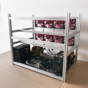 12 GPU Stackable Open Air Mining Rig Miner Rack Computer Frame BTC Ethereum Rack