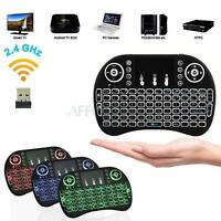 5 X 3Color Backlight Mini i8 Wireless 2.4GHz Keyboard Remote Control Touchpad PC