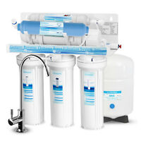 6 Stage Reverse Osmosis System Water Filter with Deionization DI Filter-75GPD