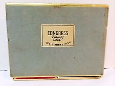Vintage CONGRESS Playing Cards Double Deck in Box Cel-U-Tone Finish USA