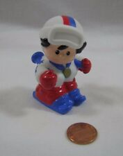 New Fisher Price Little People OLYMPIC GOLD WINTER SNOW SKIING SKIER Medal USA