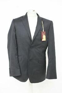 TED BAKER Men's Black Wool Long Sleeve Single Breasted Suit Jacket UK38R BNWT