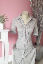 Vero Moda Kleid Hemdkleid grau kariert Gr XS 34 36 Sommer