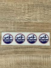 stickers alpine - 4x4cm -renault a310 vintage autocollant decals collection