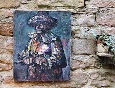 Le COMEDIEN orig. peinture HUILE pierre Lacroix (* 1912-94 paris) BD Bibi Fricotin