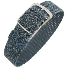 18mm EULIT Panama Blue Tropic Woven Nylon Perlon German Made Watch Band Strap