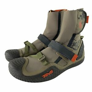 TEVA SSR CHERRY BOMB Water Shoes Whitewater Kayaking Boots Mens US 13 Camo Green