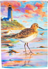 NEW LARGE EVERGREEN FLAG SANDPIPER SUNSET & LIGHTHOUSE 29 X 43 BEAUTIFUL!