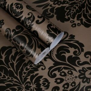 10M European Self Adhesive Wallpaper DAMASK Wall Sticker PVC Home Room Decor New