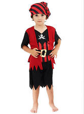 Childrens Pirate Boy Fancy Dress Costume Halloween Boys Kids Outfit 2-3 Yrs