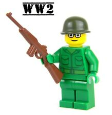 US Army WW2 minifigure Soldier made with real LEGO® M1 Carbine