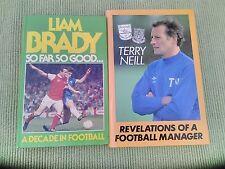 2 FOOTBALL BOOKS REVELATIONS OF A FOOTBALL MANAGER + LIAM BRADY SO FAR SO GOOD