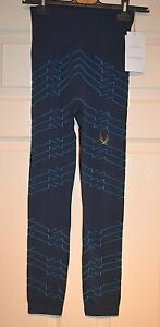 Lucas Hugh Marine Electric Blue Vestige Tech Knit Leggings Size: S