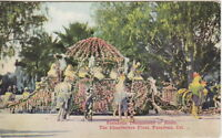 Chanteclere Float, Tournament of Roses Parade, Pasadena, CA, Pre-Linen Postcard