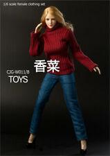 NEW TBL UD CJG-W011 Knit turtleneck sweater 1/6 hot figure toys female sweater