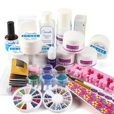 Acrylic Liquid Powder Nail Kit Manicure Starter DIY Art Glitter Tool with UV Gel