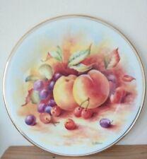 Vintage Royal Vale Bone China Decorative Signed Fruit Plate