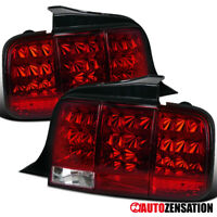 For 2005-2009 Ford Mustang Red Lens LED Sequential Tail Lights Brake Lamps Pair