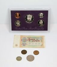 US and USSR coin mix -1991- Russian 1 bill and 4 coin + US proof set 5 coins