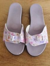 Ladies Slides By *Relax* Size 10- Mauve- Floral- Near New