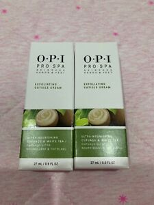 2x New OPI Pro Spa Protective Hand Nail and Feet Exfoliating Cuticle Cream 27ml