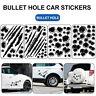 Autoaufkleber 3D Einschusslöcher Schuss Löcher Kratzen Tatoo Aufkleber Sticker C