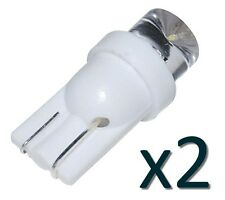 2x LED lampe Xenon T10 W5W BLANC- 2x BULB WHITE 12V Voiture/tuning Car Dashboard