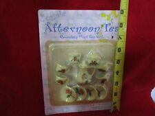 "Nos Vintage Janies 13 Piece Porcelain Mini Tea Set ""Afternoon Tea"" F/S"