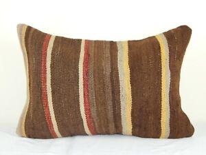 Plain Kilim Pillow Hand Embroidered Pillowcase Hippie Throw Pillow Sham 16 X 24