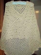 HANDMADE Crochet Damas Poncho Reversible suave Aran Nuevo a eBay único