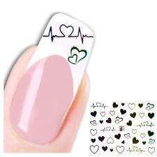 3D Nagel Sticker Nail Art Aufkleber Herzschlag Herz Design