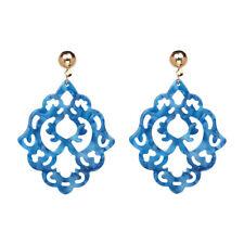 Statement Drop Earrings Hollow Out Resin Lace Flower Women's Trendy Ethnic Jewel