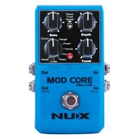 NuX Mod Core Deluxe Modulation Flanger Phaser Chorus Pan Guitar Effects Pedal
