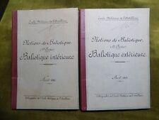 ARTILLERIE BALISTIQUE 1&2 INTERIEURE & EXTERIEURE 1917 F. Oudet 1917 1ère Guerre
