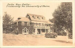 RPPC University of Maine Delta Tau Delta Fraternity House early 1900s