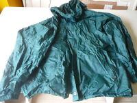 kway k-way veste vintage vert T L se met en boule