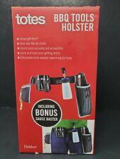 Totes Bbq Tools Holster w/Salt Pepper Shaker Bottle Opener Sauce Baster All New