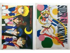 Sailor Moon Venus Jupiter Mercury Mars Anime Set of 2 Poster Rare New Lot