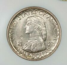 1921 Missouri half dollar 2x4 50c NGC MS62 GOLD CAC Old No Line Fatty Holder