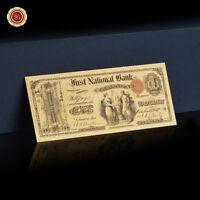 WR 1875 USA $ 1 dollars cadeau souvenirs de billets de banque de couleur