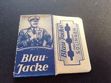 VINTAGE RAZOR BLADE & WRAPPER 'BLAU JACKE'