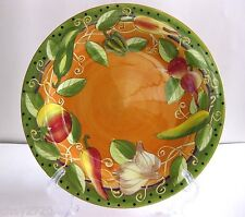 PRE-OWNED GATES WARE BY LAURIE GATES VEGETABLES DESIGN 12 IN. PLATTER
