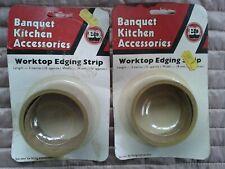 B&Q 2 x retro Banquet Kitchen Worktop Edging Strips in Dark Oak 3 metres x 34mm