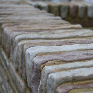MINT SANDSTONE WALLING BLOCKS. ANTIQUED STONE BRICKS - 290 x 100mm