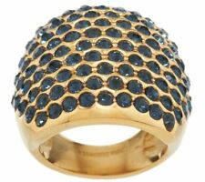 QVC 14K Yellow Gold Over Bold Crystal Cocktail Ring Size 5 SOLD OUT
