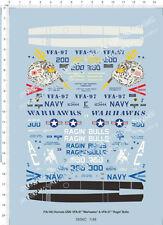1/48 F/A-18C Hornet VFA-97 Warhawks VFA-37 Ragin Bulls Model Kit Water Decal
