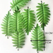 50pc Faux Silk Leaves Feather Fern Pick Artificial Green Leaf Flower Bush Filler