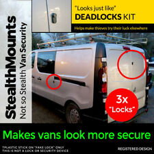 3x Fake Van Dead Locks Kit by StealthMounts - Lock Security DeadLock Alarm Dummy